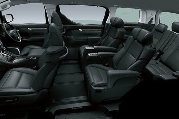 Toyota Vellfire Black Interior