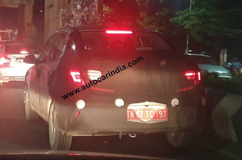 2020 Hyundai i10 sedan Spied rear