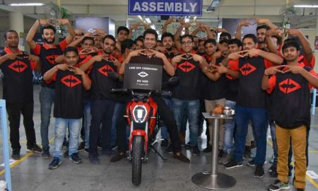 Revolt RV 400 First Roll Out from Manesar Plant