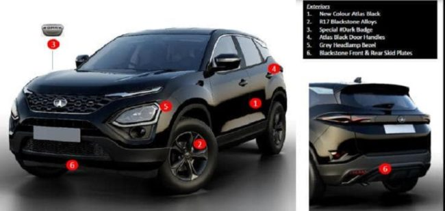 Tata Harrier Dark Edition Exterior Features