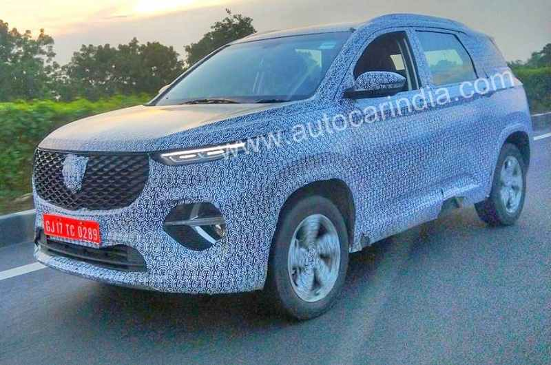 MG Hector 6-seat Spied