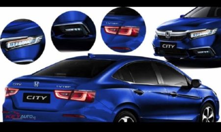2020 Honda City Blue Rendering