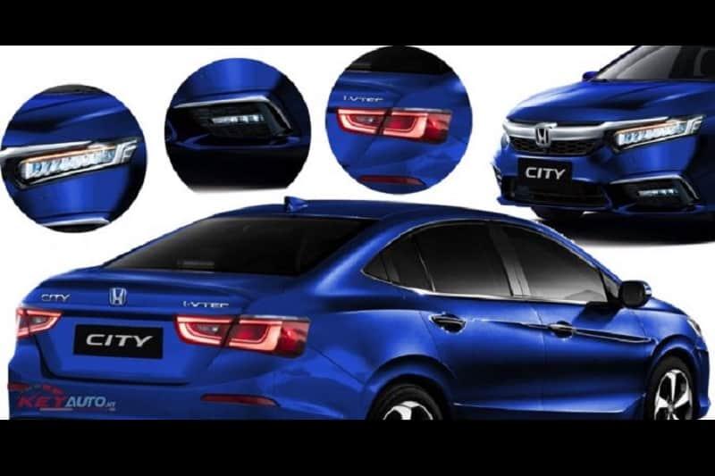 2020 Honda City Blue Rendering