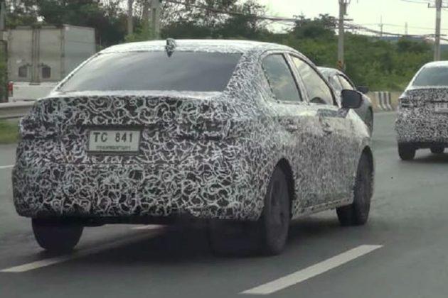 2020 Honda City spied rear