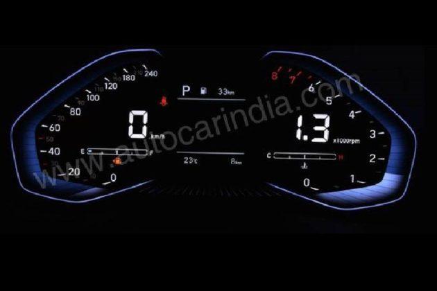 2020 Hyundai i20 digital instrument