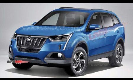 2020 Mahindra XUV500 blue render_1