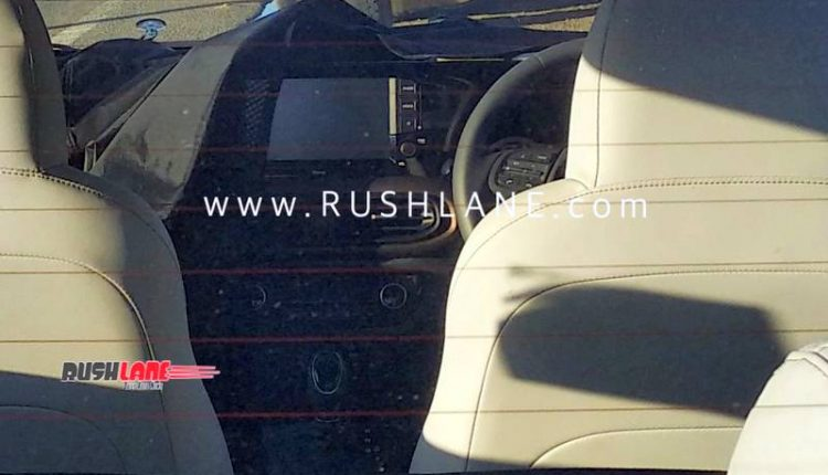 Hyundai i10 Sedan Interior Spied