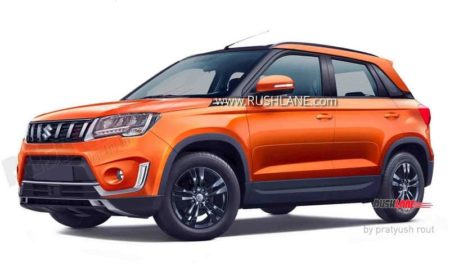 2020 Maruti Vitara Brezza in Orange