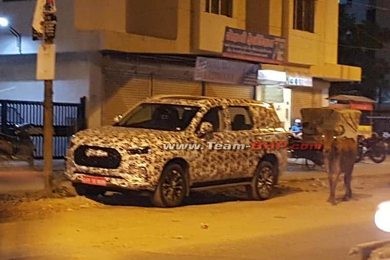 MG Maxus D90 spied India