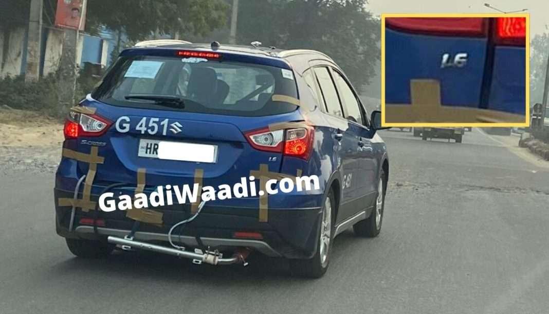 Maruti S-Cross 1.6 Diesel spied