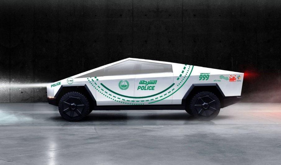 Tesla Cybertruck Dubai Police