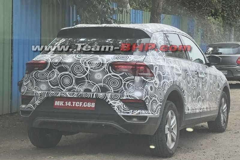 Volkswagen T-Roc spied in India
