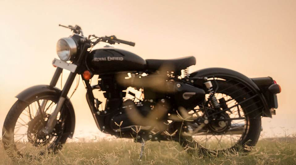 single seater Royal Enfield Classic 350