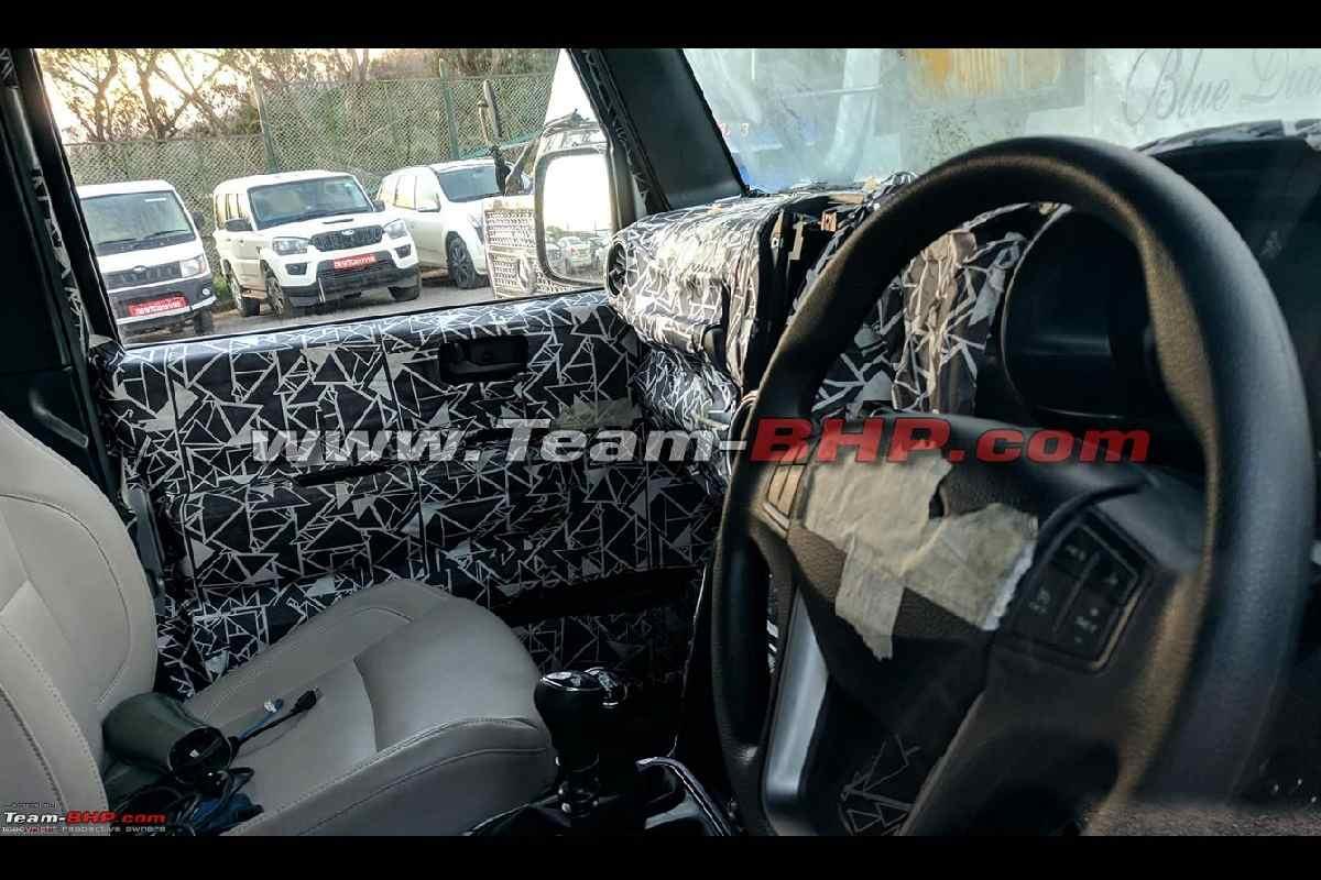 2020 Mahindra Thar interior details