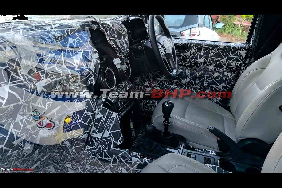 2020 Mahindra Thar interior leaked