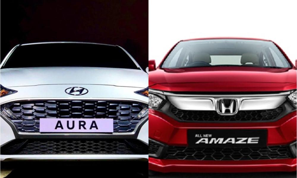 Hyundai Aura Vs Honda Amaze – Spec Comparison - IndiaCarNews thumbnail