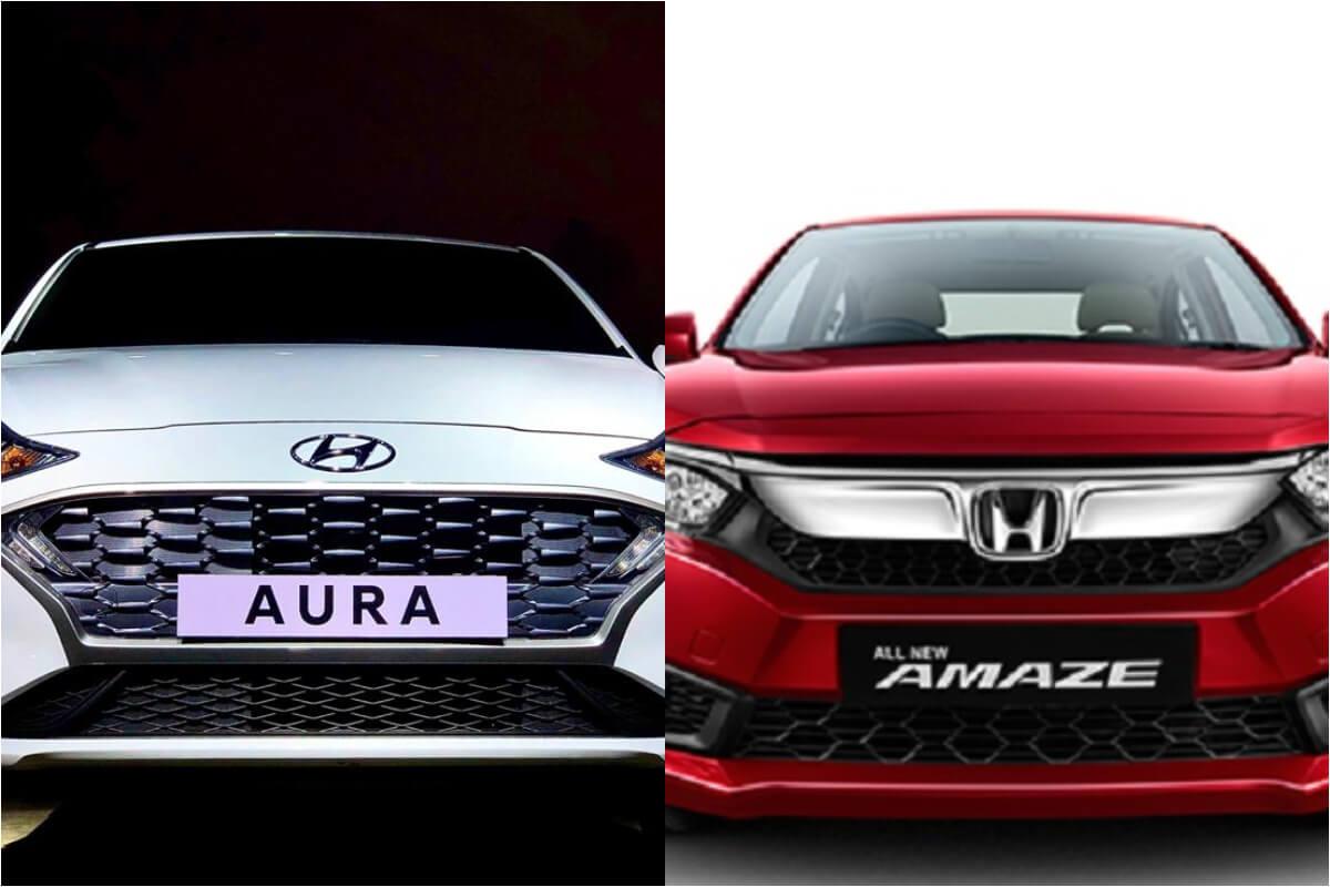Hyundai Aura Vs Honda Amaze (1)