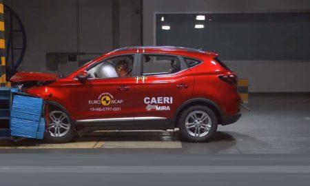 MG ZS Euro NCAP crash test