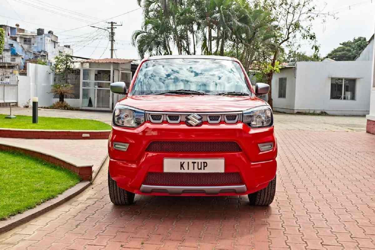 Modified Maruti S-Presso Gets Shiny Red Colour and Sporty Alloys
