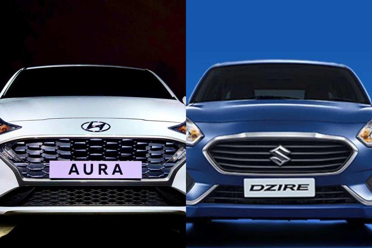 Hyundai Aura Vs Maruti Dzire