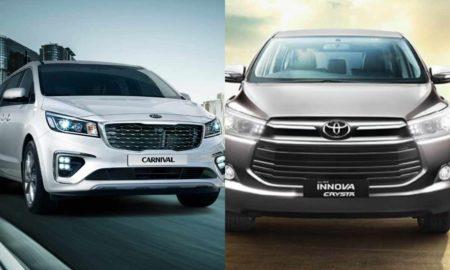 Kia Carnival Vs Toyota Innova Crysta