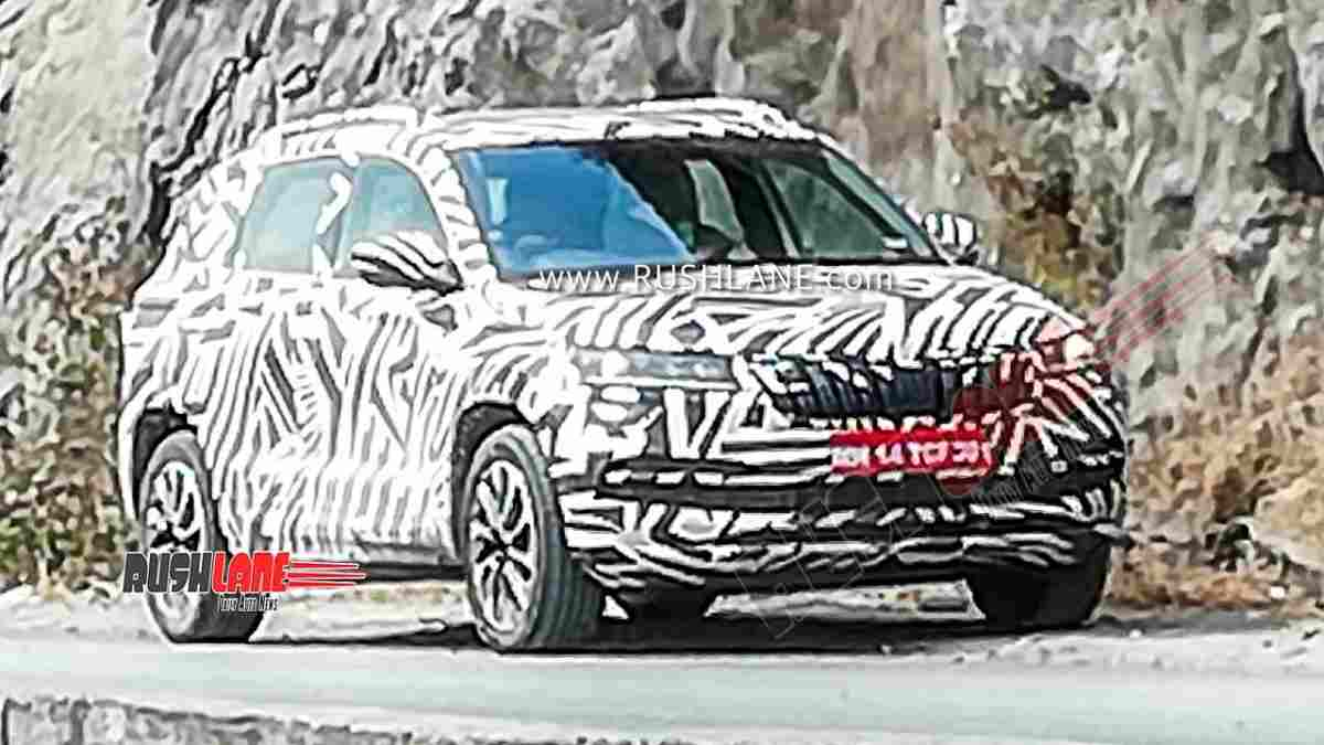 Skoda Vision SUV Spotted Testing For The First Time in India