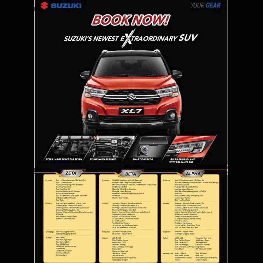 Suzuki XL7 (7-Seater) Clear Images and Brochure Leaked