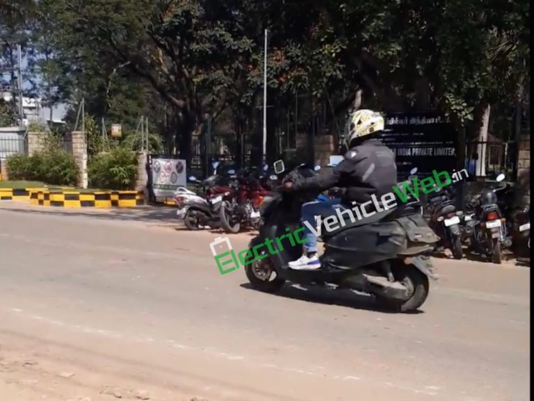 TVS Creon Electric Scooter Spotted For The First Time