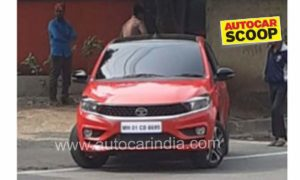 Tata Tiago facelift Spied