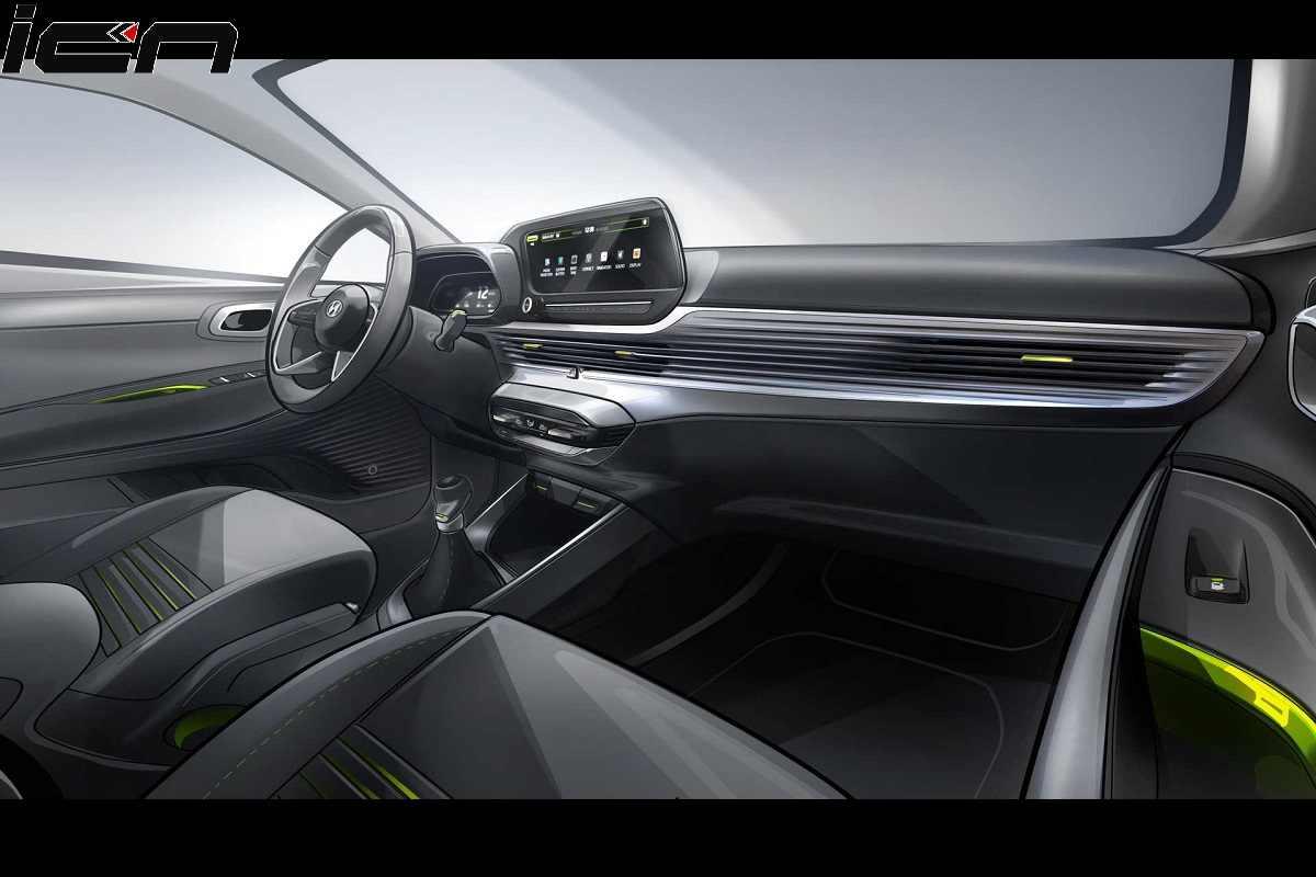 2020 Hyundai i20 Interior Sketch