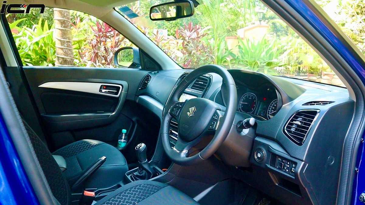 Brezza facelift Interior