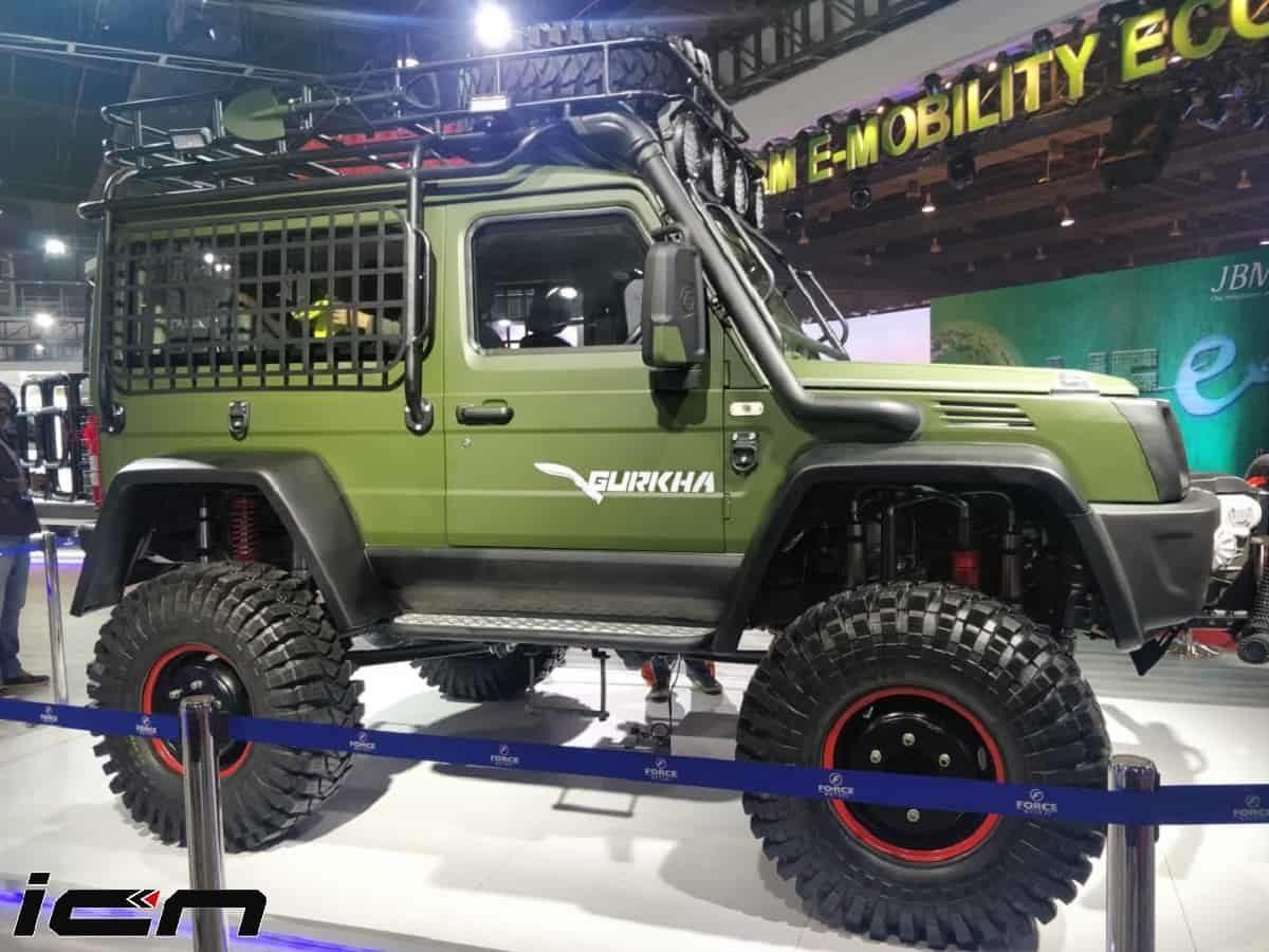 Heavily Modified Force Gurkha Showcased At Auto Expo 2020