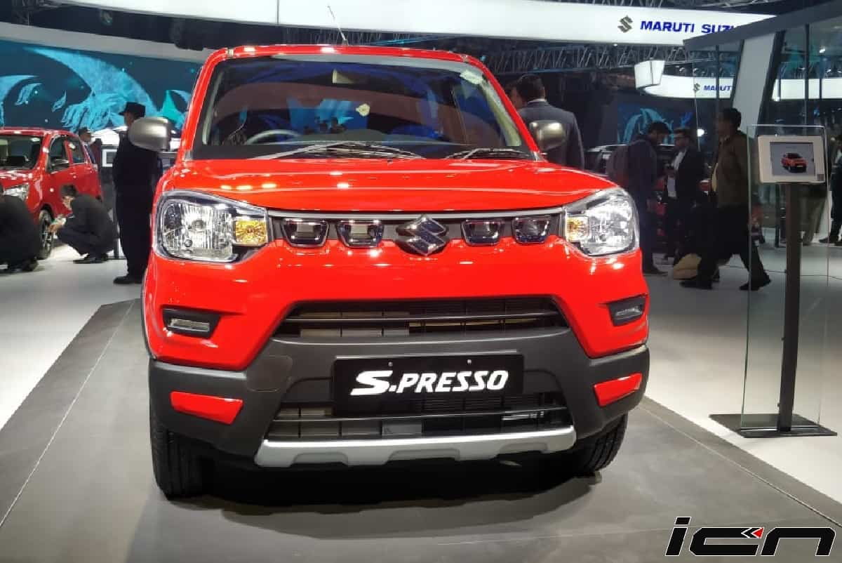 Maruti S-Presso CNG Variant Showcased At Auto Expo 2020