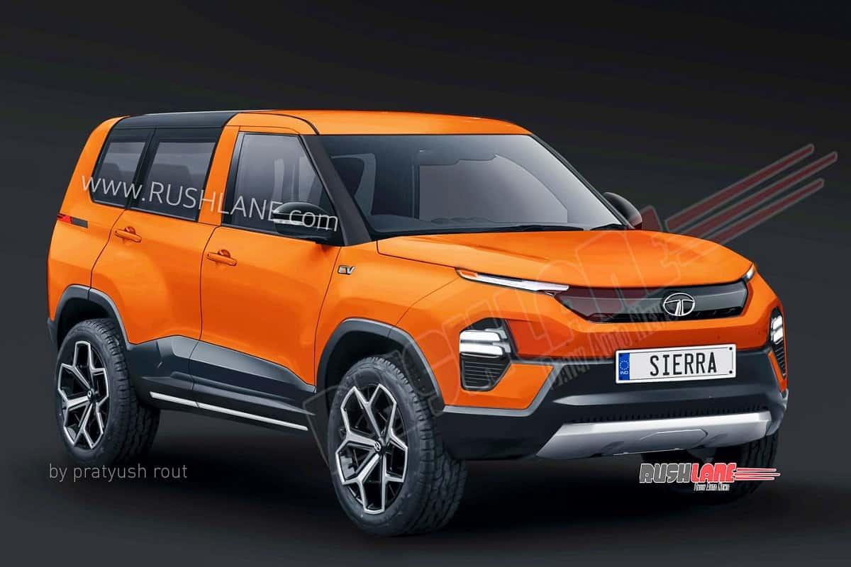 Tata Sierra In Orange