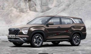 Hyundai Creta 7-Seater Rendered