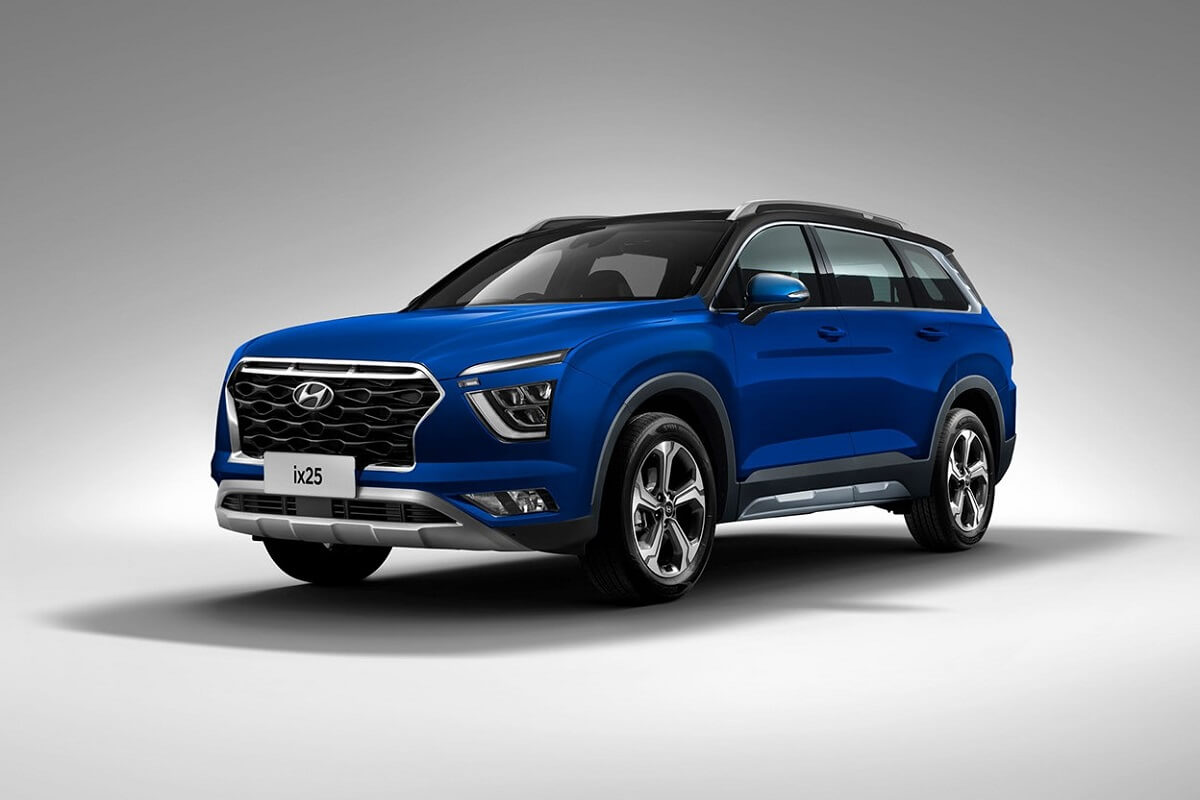 Hyundai Alcazar Grand Creta Rendered