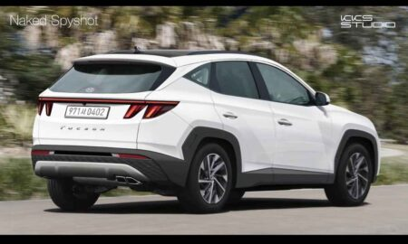 2021 Tucson rear Rendered