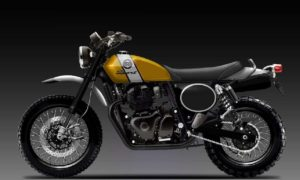 Royal Enfield 650 Scrambler bike