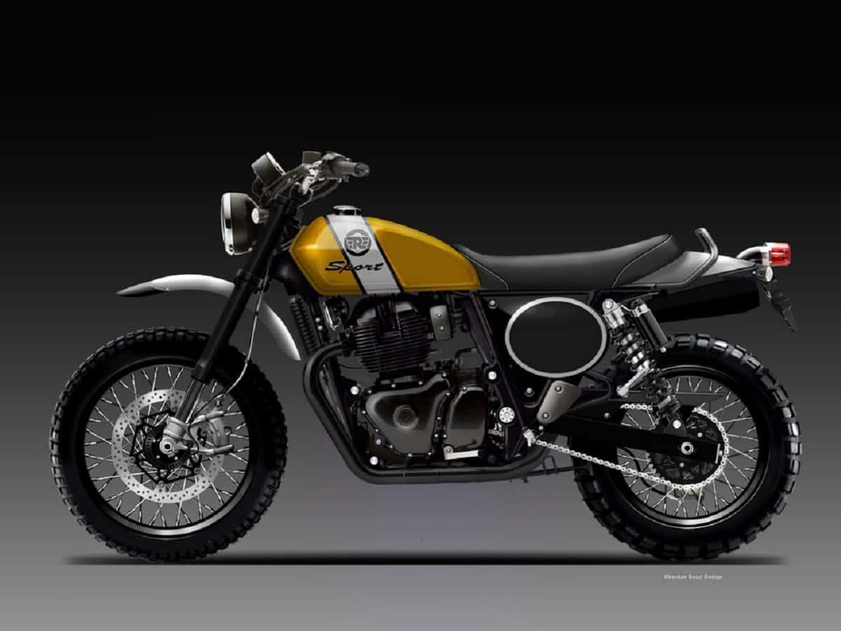 Royal Enfield 650 Scrambler bike