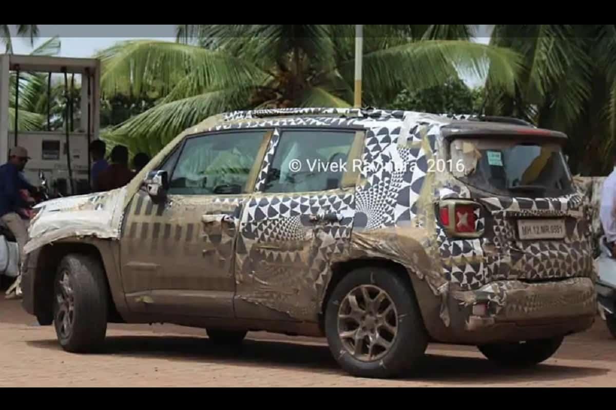 Jeep Renegade (Seltos, Creta Rival) Spotted In India