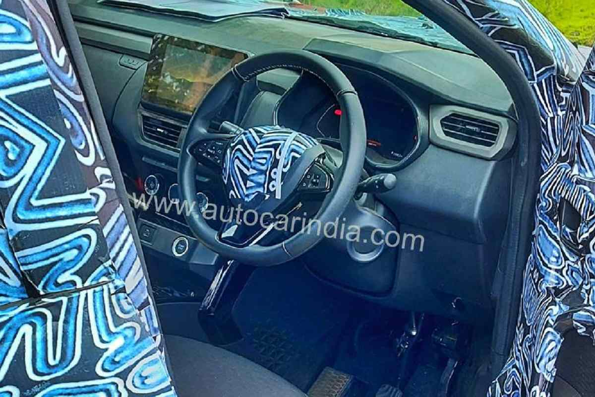 Renault Kiger Interior Spied