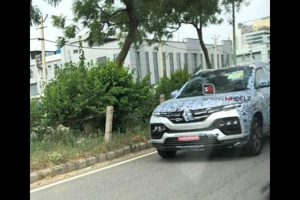 Renault Kiger front Spied