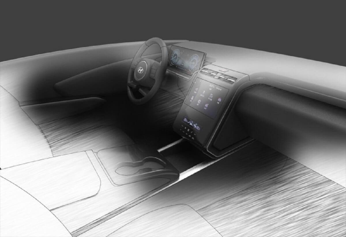 New-gen Hyundai Tucson Interior Sketch
