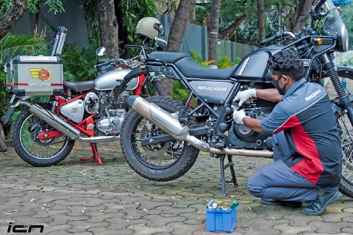Service on Wheels Royal Enfield