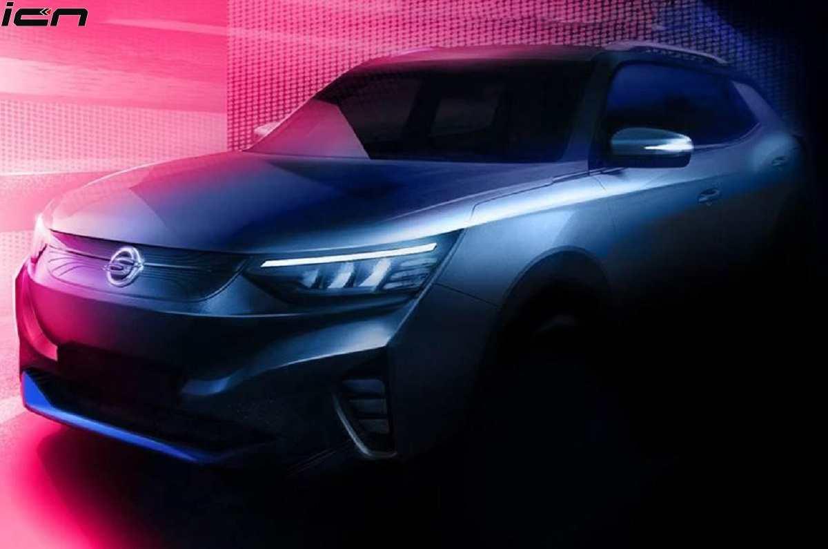SsangYong E100 EV Teased