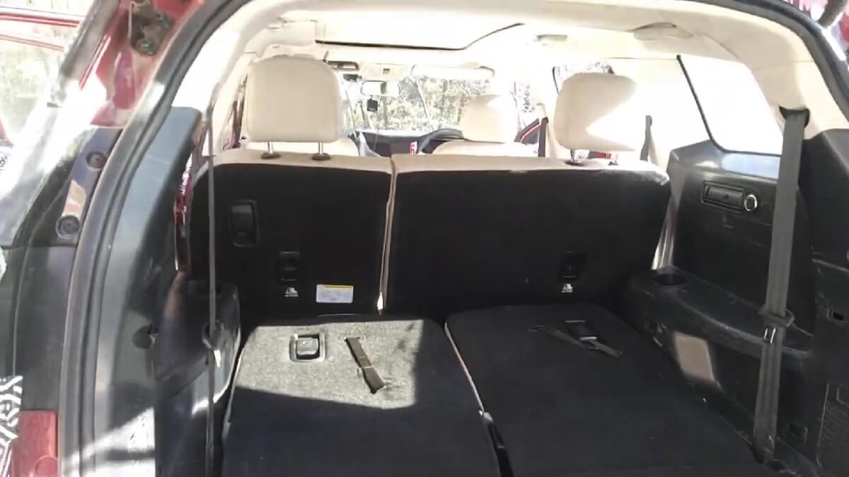 New XUV500 Folded Seats