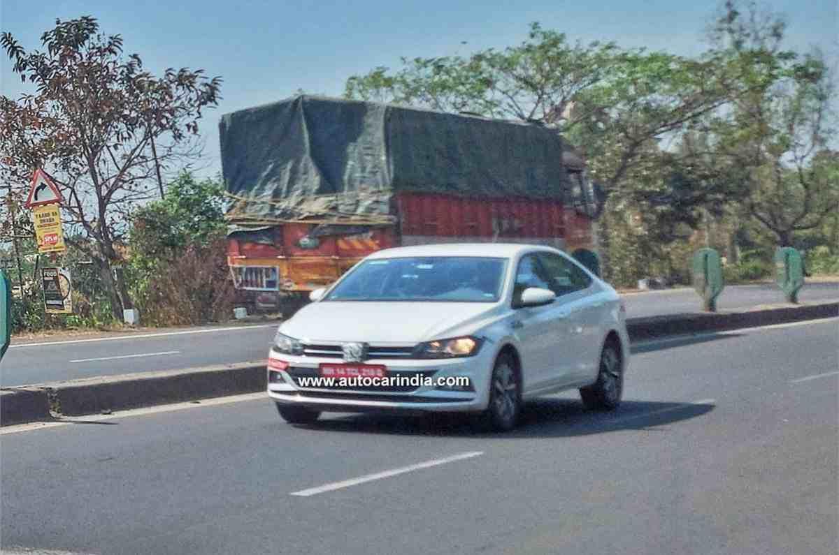 VW Virtus Spied India