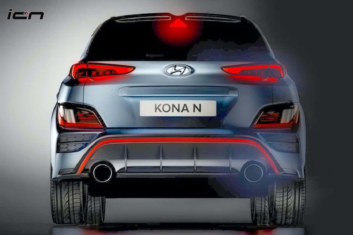 Upcoming Hyundai Kona N rear teaser