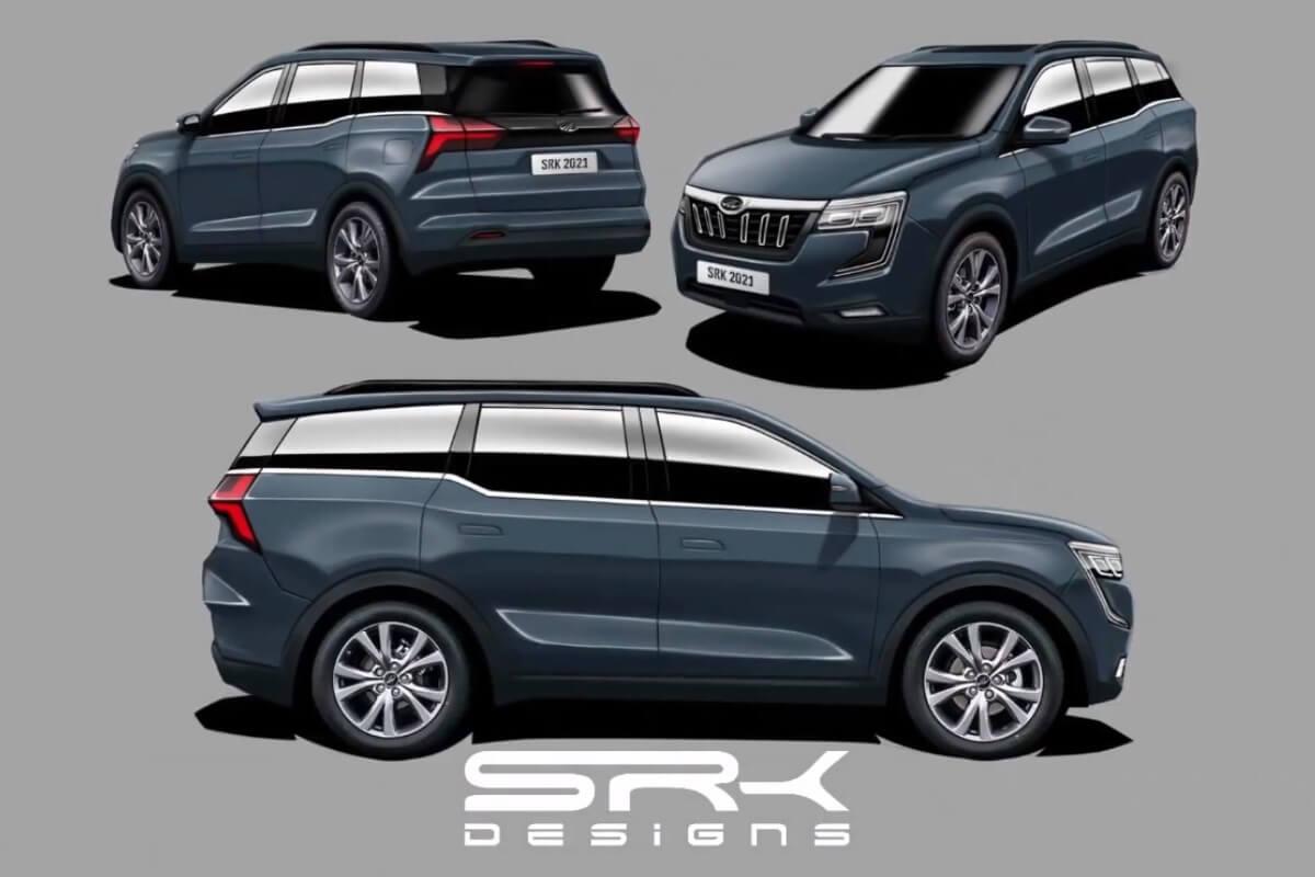 Mahindra XUV700 Front, Side & Rear Visualized Digitally